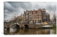 Amsterdam in December, Canvas Print