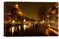 The Singel, Amsterdam, Canvas Print