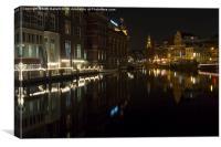 Amsterdam at Night 2, Canvas Print