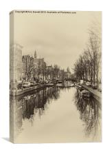 Old Amsterdam, Canvas Print