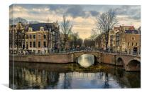 Amsterdam Bridges, Canvas Print