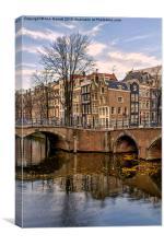 Amsterdam Corner, Canvas Print