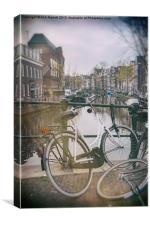 Vintage Amsterdam, Canvas Print