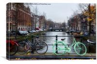 Green Transport in Amsterdam, Canvas Print