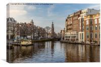 The Amstel  Amsterdam, Canvas Print