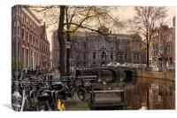 Amsterdam Academia, Canvas Print
