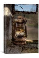 The Hurricane Lamp, Canvas Print