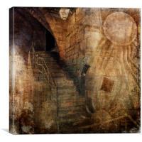 Grunge Steps, Canvas Print
