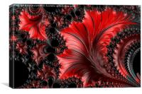 Red on Black Macro - A Fractal Abstract, Canvas Print