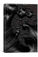 Black on Black - A Fractal Abstract, Canvas Print