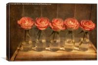 Roses in a Row, Canvas Print