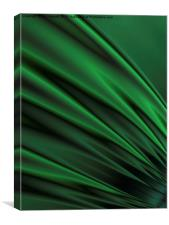 Green Satin - A Fractal Abstract, Canvas Print