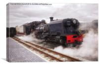 Steam Engine in Porthmadog, Canvas Print