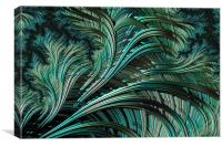 Green Palm - A Fractal Abstract, Canvas Print