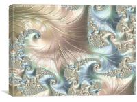 Mother of Pearl - A Fractal Abstract, Canvas Print