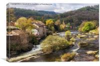 Llangollen and the River Dee, Canvas Print