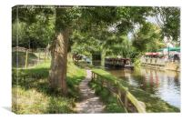 The Canal at Gnosall 2, Canvas Print