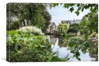 River Aure, Bayeux, Canvas Print