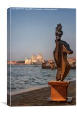 Art in Venice, Canvas Print