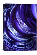 Blue Satin Fractal, Canvas Print