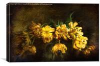 Vase of Yellow Tulips, Canvas Print