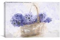 Basket of Hyacinth - Digital Painting, Canvas Print
