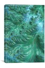 Turquoise Swirls - A Fractal Abstract, Canvas Print