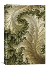Sage Leaf - A Fractal Abstract, Canvas Print
