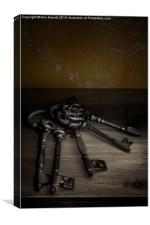 Old Keys, Canvas Print