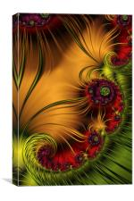 Medallions A Fractal Abstract, Canvas Print