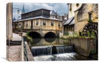 Bayeux Water Wheel, Canvas Print