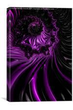 Purple Satin Fractal, Canvas Print