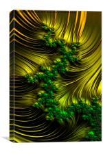 Golden Satin - A Fractal Abstract, Canvas Print