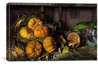 Pumpkins in a Basket, Canvas Print