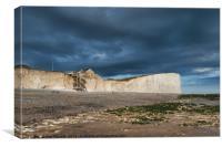 Storm Skies at Birling Gap, Canvas Print