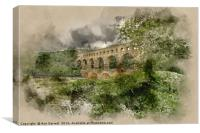 Pont du Gard France, Canvas Print