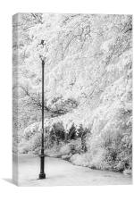 The Lampost - Infrared, Canvas Print