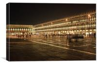 Piazza San Marco at Night, Canvas Print