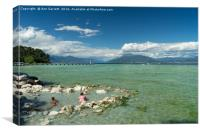 Cooling Down in Lake Garda, Canvas Print