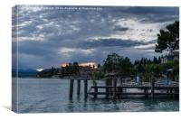 Dusk on Lake Garda, Canvas Print
