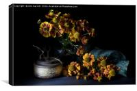 Heleniums in the Sunshine, Canvas Print
