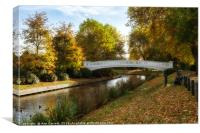 Coronation Bridge Victoria Park Stafford, Canvas Print