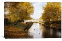 Coronation Bridge Victoria Park Stafford 3, Canvas Print