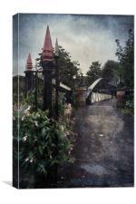 Andresey Bridge Burton on Trent, Canvas Print