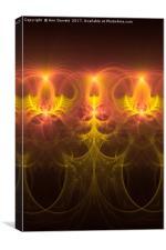 Fractal Fireworks, Canvas Print