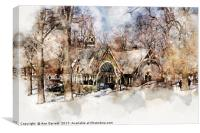Central Park Dairy New York, Canvas Print
