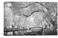 Pont des Amours, Annecy, France, Canvas Print