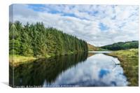 Llyn Brianne Reservoir 2 Wales, Canvas Print