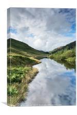 Llyn Brianne Reservoir 3 Wales, Canvas Print