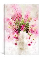 Saxifraga Tangle Splash, Canvas Print